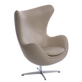 Fotel Jajo szara skóra 96 Premium
