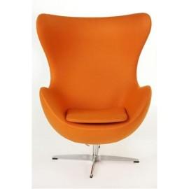Fotel Jajo szeroki tkanina pomarańczowy JA-2717