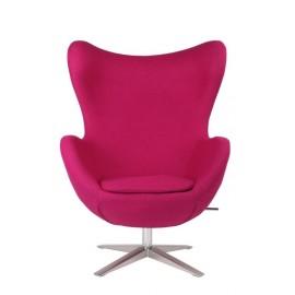 Fotel Jajo szeroki wełna różowy YQ-45
