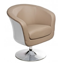 Fotel Magnum K-biały S- beż