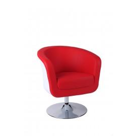 Fotel Magnum K-biały S- czerwone