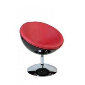 Fotel Mercury K-czarny S-czerwone