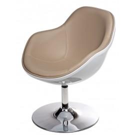 Fotel Pezzo K- biały S-beż