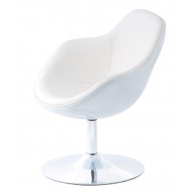 Fotel Pezzo K- biały S-białe 906
