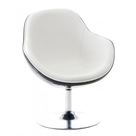 Fotel Pezzo K- czarny S-białe 906