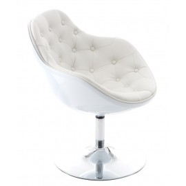 Fotel Pezzo piko. K- biały S- białe 906