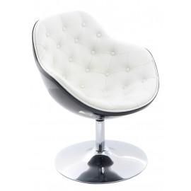 Fotel Pezzo piko. K-czarny S- białe 906