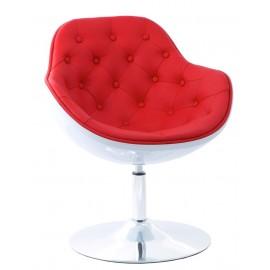 Fotel Pezzo piko. K-biały S-czerw. 913