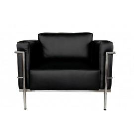 Fotel Soft czarna skóra TP