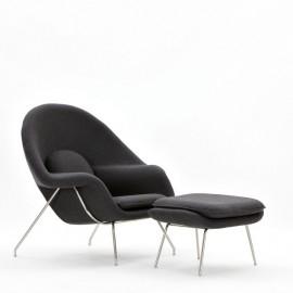 Fotel z podnóżkiem Snug szary ciemny