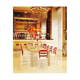 Krzesło Miss Bibi biały/czerwony