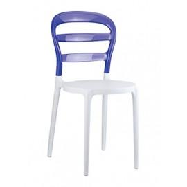 Krzesło Miss Bibi biały/fiolet