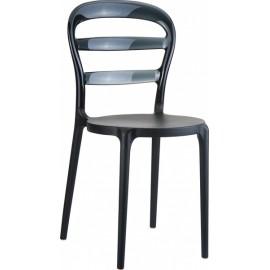 Krzesło Miss Bibi czarne czarne oparcie