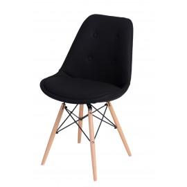 Krzesło Norden DSW pikowane czarne