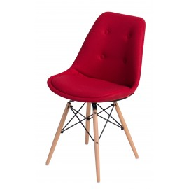 Krzesło Norden DSW pikowane czerwone