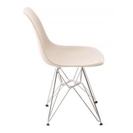 Krzesło P016 PP beige chromowane nogi
