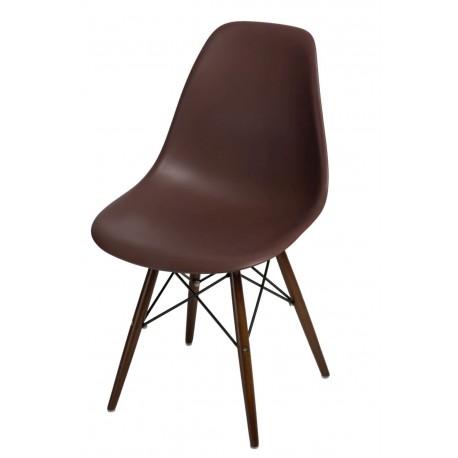 Krzesło P016W PP brązowe dark nogi