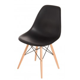 Krzesło P016W PP czarne drewniane nogi