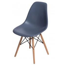 Krzesło P016W PP dark grey drewniane nogi