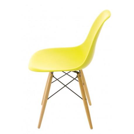 Krzesło P016W PP dark olive drewniane nogi