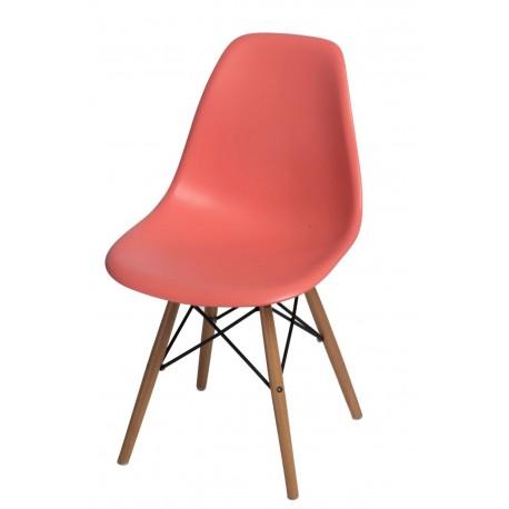 Krzesło P016W PP dark peach drewniane nogi