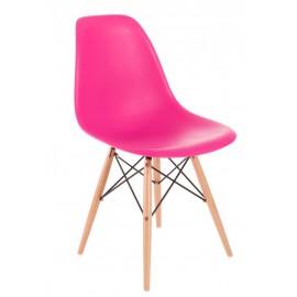 Krzesło P016W PP dark pink drewniane nogi