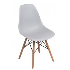 Krzesło P016W PP light grey drewniane nogi