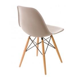 Krzesło P016W PP mild grey drewniane nogi