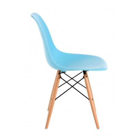 Krzesło P016W PP ocean blue drewniane nogi