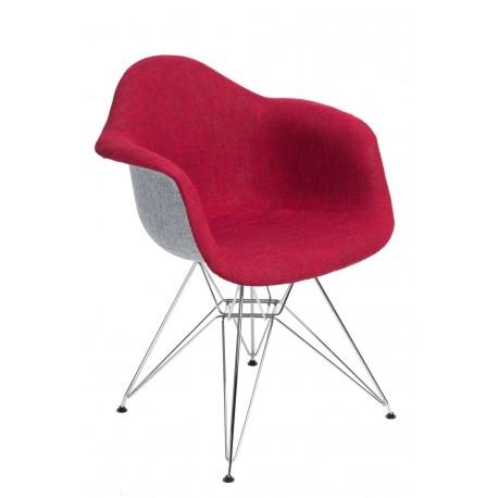 Krzesło P018 DAR Duo czerwono - szare