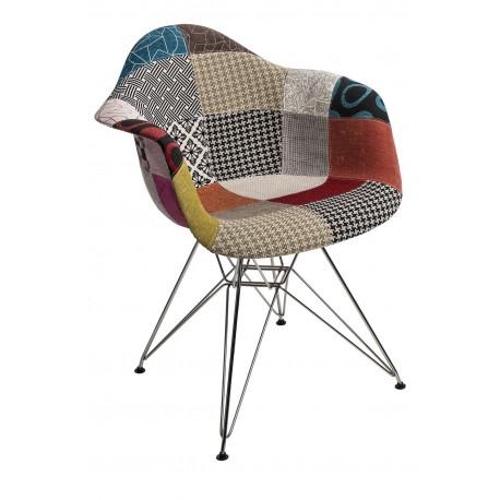 Krzesło P018 DAR patchwork kolorowy