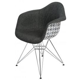 Krzesło P018 DAR Pattern szare/pepitka