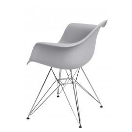 Krzesło P018 PP light grey chrom nogi HF
