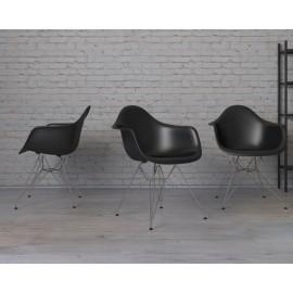Krzesło P018 PPczarne chrom nogi HF