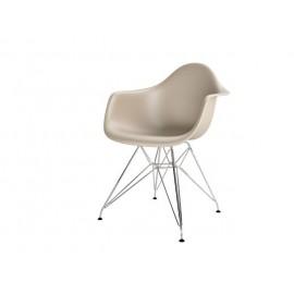 Krzesło P018PP beżowe chrom nogi HF