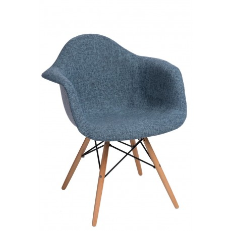 Krzesło P018 DAW Duo niebiesko szare