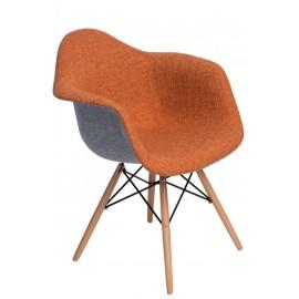 Krzesło P018 DAW Duo pomarańcz. szare
