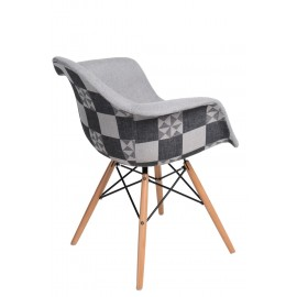Krzesło P018W Pattern szare/patchwork