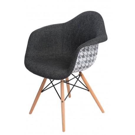 Krzesło P018W Pattern szare/pepitka