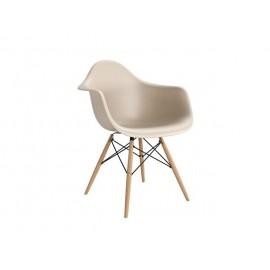 Krzesło P018W PP beige drewniane nogi