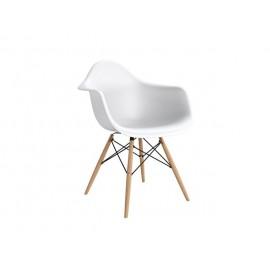 Krzesło P018W PP białe drewniane  nogi HF