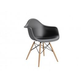 Krzesło P018W PP czarne drewniane nogi