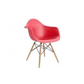 Krzesło P018W PP czerwone drewniane nogi HF