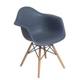 Krzesło P018W PP dark grey drewniane nogi