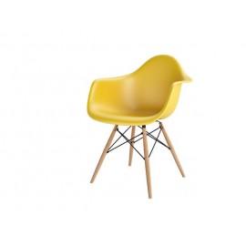 Krzesło P018W PP dark olive drewniane nogi HF