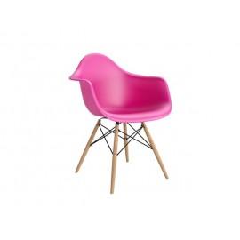 Krzesło P018W PP dark pink drewniane nogi HF