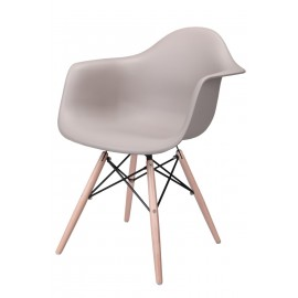 Krzesło P018W PP mild grey drewniane nogi