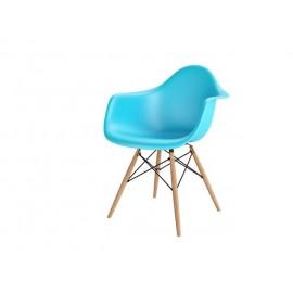 Krzesło P018W PP ocean blue drewniane nogi HF