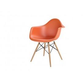 Krzesło P018W PP pomarańczowy drewniane nogi HF