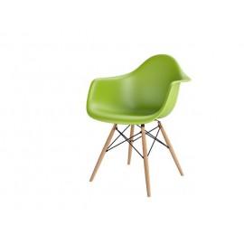 Krzesło P018W PP zielony drewniane nogi HF